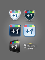 5 Free Google +1 Icons by Killericons