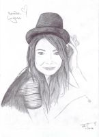 Miranda Cosgrove Drawing by For-Always