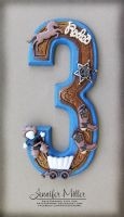 Cowboy Number Cake Topper by ArteDiAmore