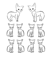 Cat Breedable Lines F2U PNG by Inner-Realm-Adopts