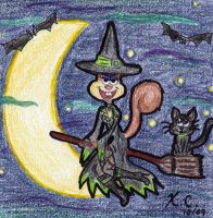 Halloween '09: Witchy Sandy by Spongefifi