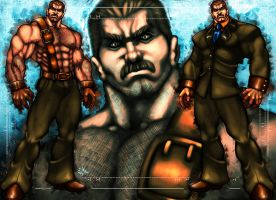 Mike Haggar Final Fight by ErikVonLehmann