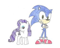 Sonic and Rarity by darkshadow051