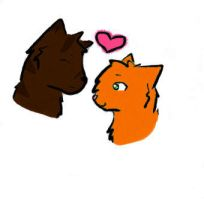 Brambleclaw and Squirrelflight by Saiyrie