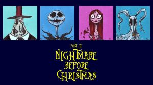 POST IT NIGHTMARE BEFORE CHRISTMAS by QuinteroART