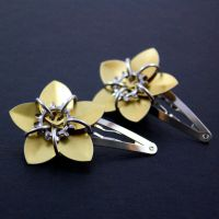 Gold Steampunk Barrettes by Utopia-Armoury