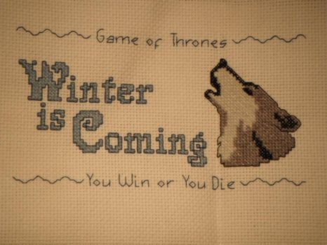 Winter is Coming cross stitch by dottypurrs