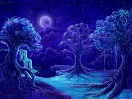 Moonlit Island by horselover146515