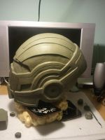 Mass effect N7 Helmet sculpt WIP 3 by KRSprops