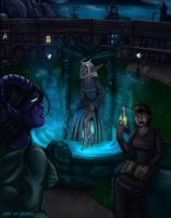 Night at the Moonwell by arania