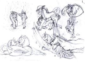 AppleDash sketches by Dawn22Eagle