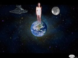 FRAN DRESCHER DEFENDER OF THE EARTH by darthbriboy