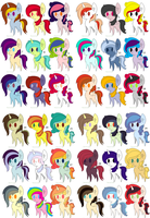 36 ponies adopt 2 (Closed) by Rainbows-Lover
