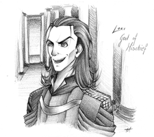 Loki sketch by Marionnettee