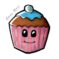 Smiling Cupcake by Idle-Emma