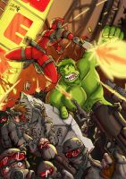 Hulk kill Red-Pool by HeroPill