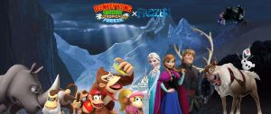 DKC Tropical Freeze X Frozen Crossover by rabbidlover01