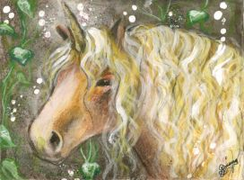 Ancient - Unicorn ACEO by BlackAngel-Diana