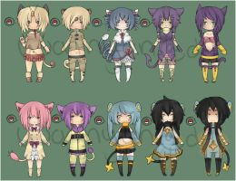 Pokemon gijinka adoptables [CLOSED] by WanNyan