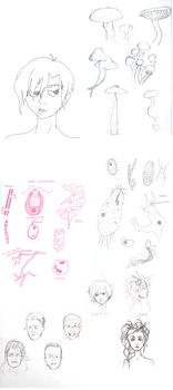 Sketchdump by gienahclarette