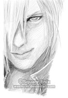 FFVII AC - KADAAJ face Sketch by Washu-M