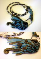 Clay Bird Necklace by Aegypiinae
