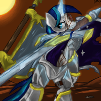 Shining Armor on the battlefield by Bloodkiaser923