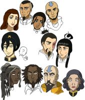 Avatar Couples and Kids WIP by SuirenShinju