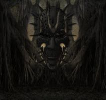 Evil Forest Bckg 2 by mysticmorning