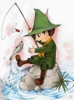 Fishing Snufkin by Tamasaburo89