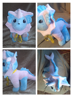 Different colored Vaporeon plush by LRK-Creations