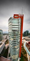 Andromeda Tower Vienna by Nightline