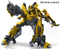 Battle Bumblebee by Ash-Dragon-wolf