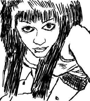 Fast Sketch of a friend Emily by NSyridian