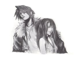 Squall and Rinoa by conniekidd
