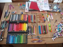 My Art Supplies by lumaeya