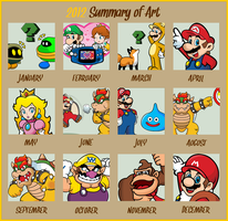 2012 Summary of Art by Blistinaorgin
