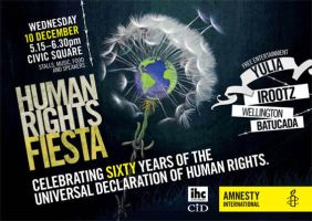 Human rights 60years flyer by space-for-thought