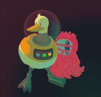 spaceduck and rotisa by jinguj