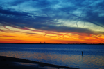 marine parkway sunset by TreborNehoc
