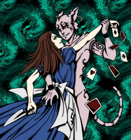ALice and Cheshire Dance by Blackmoonrose13