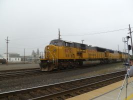 UP SD9043AC 8072 by BNSF