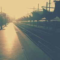 Railway Station - Going back home by nansou