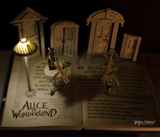 Alice In Wonderland Book Arts by MalenaValcarcel