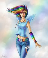 MLP: Rainbow Dash by TomkaViolea