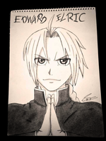 fanart of edward elric by an1me-l0ver