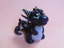 Baby Purple Dragon by DragonsAndBeasties
