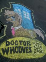 Dr. Whooves Chalk Drawing by Residentfriendly
