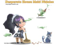Desperate house maid Nidalee by HolyElfGirl