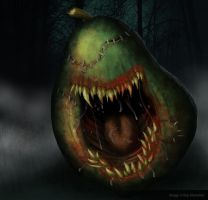 Killer Pear Creature by nuckerbar